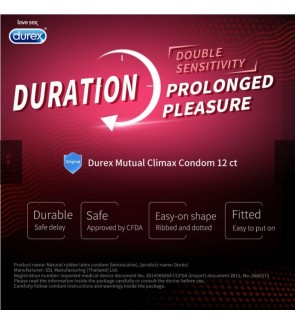 Durex Mutual Climax 12pcs Delay condom with dotted and ribbed