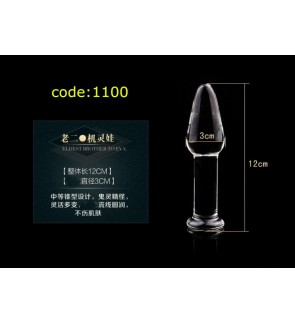 Female Transparent Premium Crystal Glass Container Hot Cold Ice Water Masturbation Waterproof Adult Sex Toy Dildo for Women
