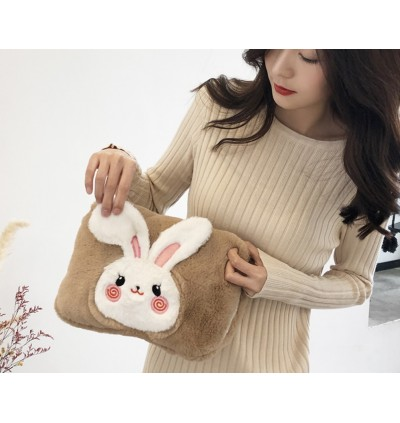 Shy Rabbit 3D Plush Hot Water Bottle Electric Charging Heating Multicolor Hand Warmer Hot Water Bag Portable Hand Inserted