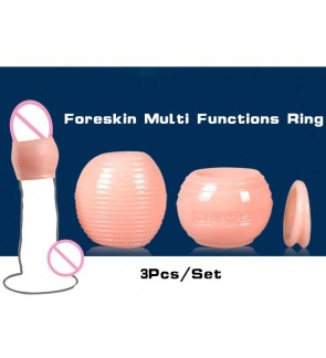 Male Silicone Flexible Foreskin Correction Penis Ring Delaying Ejaculation Ring