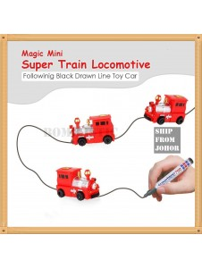 Magic Pen Inductive Truck Magic Toy Car Follow Any Drawn Line Battery Included for Kids