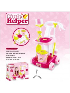 Little Helper Housekeeping Cleaning Set Toys Pretend Play with Trolley - 8pcs equipments