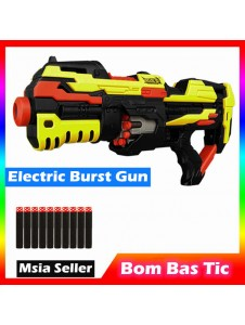 Electric Burst Soft Bullet Toy Gun Save the Crisis Soft Bullet Gun With 10pcs Soft Bullet