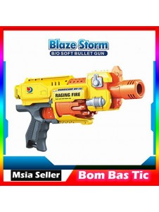 Blaze Storm Raging Fire Electric Nerf Style Semi Auto Electric Soft Bullet Darts + 20 Bullets