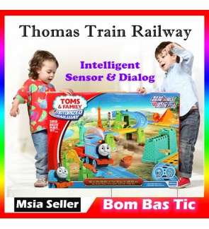 Thomas Friends Toms Family Motorized Railway with Intelligent Sensor Rail Train 53pcs