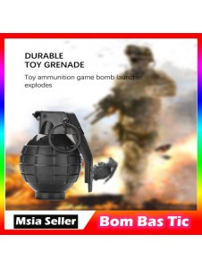 Durable Toy Grenade Toy Ammo Game Light and Sound Bomb Launcher Blast Replica Military Outdoor Tactical Accessory